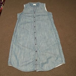 J Crew Denim Shirt Dress Size Small
